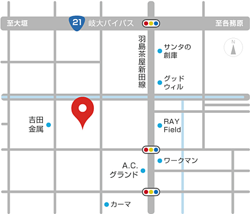 ぎふの木ガーデンマップ